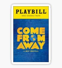 Come From Away Playbill Sticker