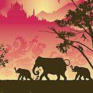 Indian elephants by Lara Allport