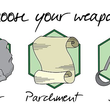 Boulder Parchment Shears (Dark Text): A Dungeons And Dragons Game by Obsessed