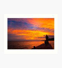 Fiery Sunset Over Lake Nicaragua Art Print