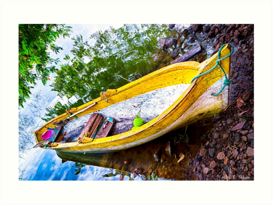 Old Weathered Boat On A Tropical Island by Mark Tisdale