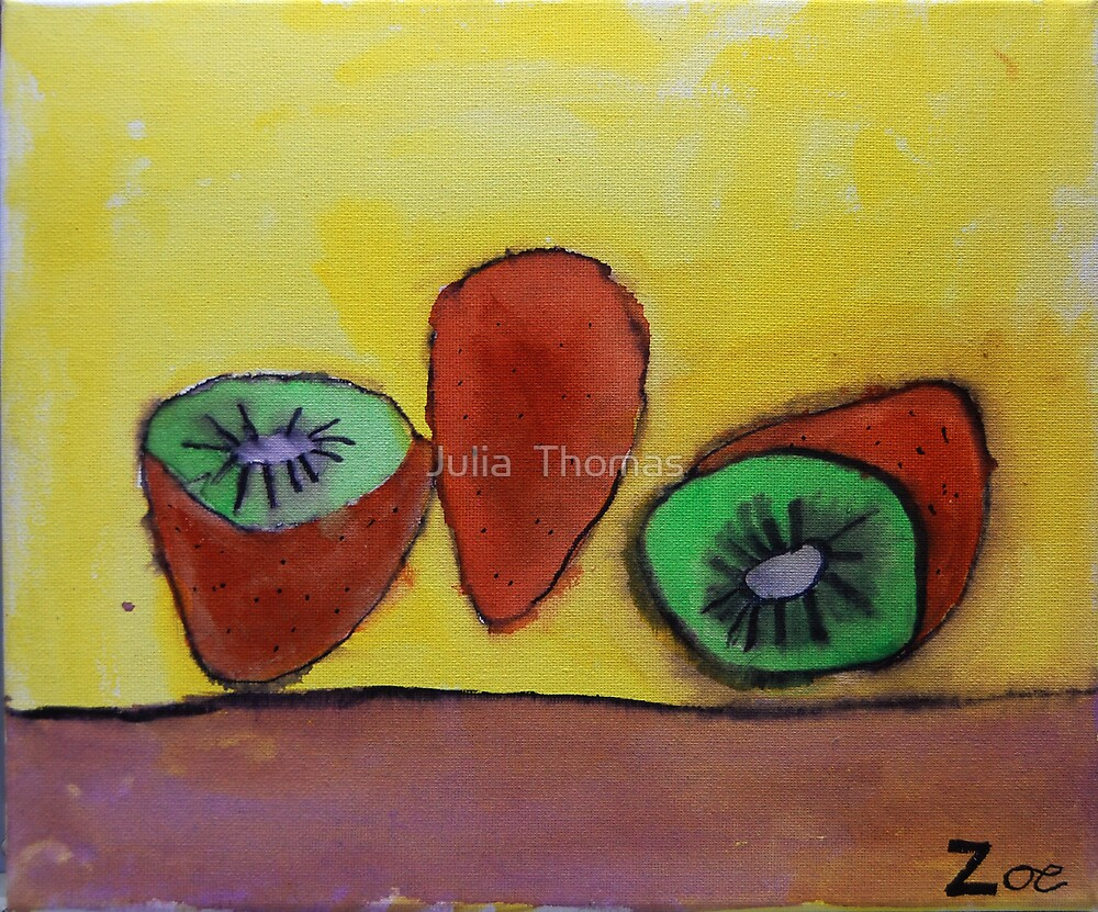 Kiwifruit by Zoe Thomas Age 7 by Julia  Thomas