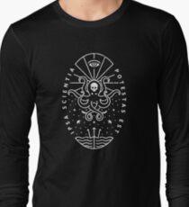 Knowledge - White/Skull Long Sleeve T-Shirt