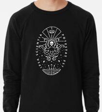 Knowledge - White/Skull Lightweight Sweatshirt