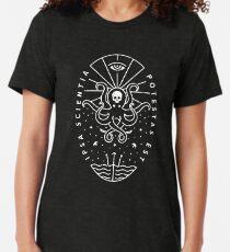 Knowledge - White/Skull Tri-blend T-Shirt