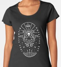 Knowledge - White/Skull Women's Premium T-Shirt