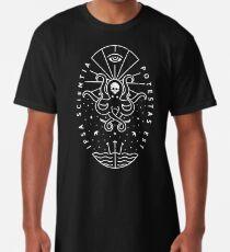 Knowledge - White/Skull Long T-Shirt