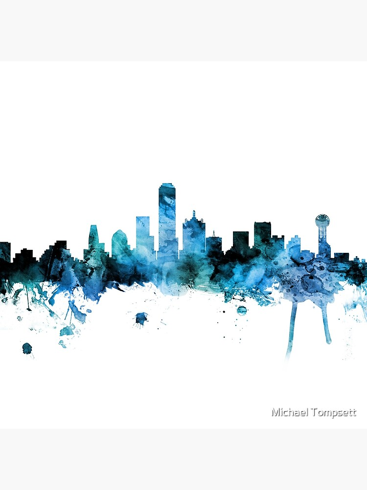 Dallas Texas Skyline von ArtPrints