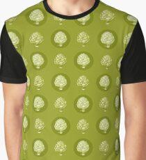 Artichoke Pattern Graphic T-Shirt