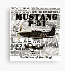 Mustang P51 Canvas Print