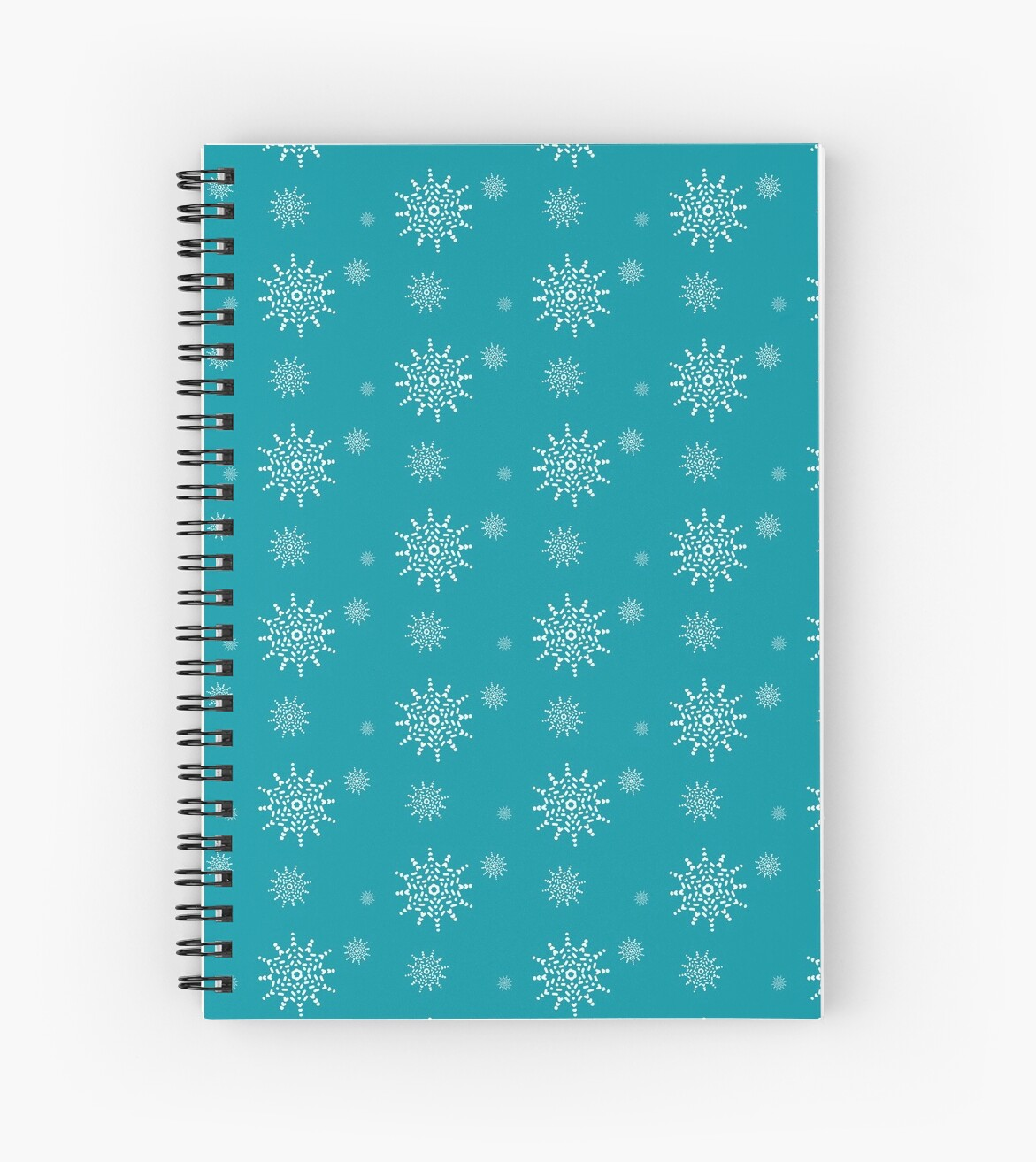 White Snowflakes on Turquoise by artkecco