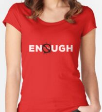 Enough - Anti Gun Orange Women's Fitted Scoop T-Shirt