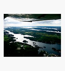 The Thousand Islands, A Plane-Eye View Photographic Print