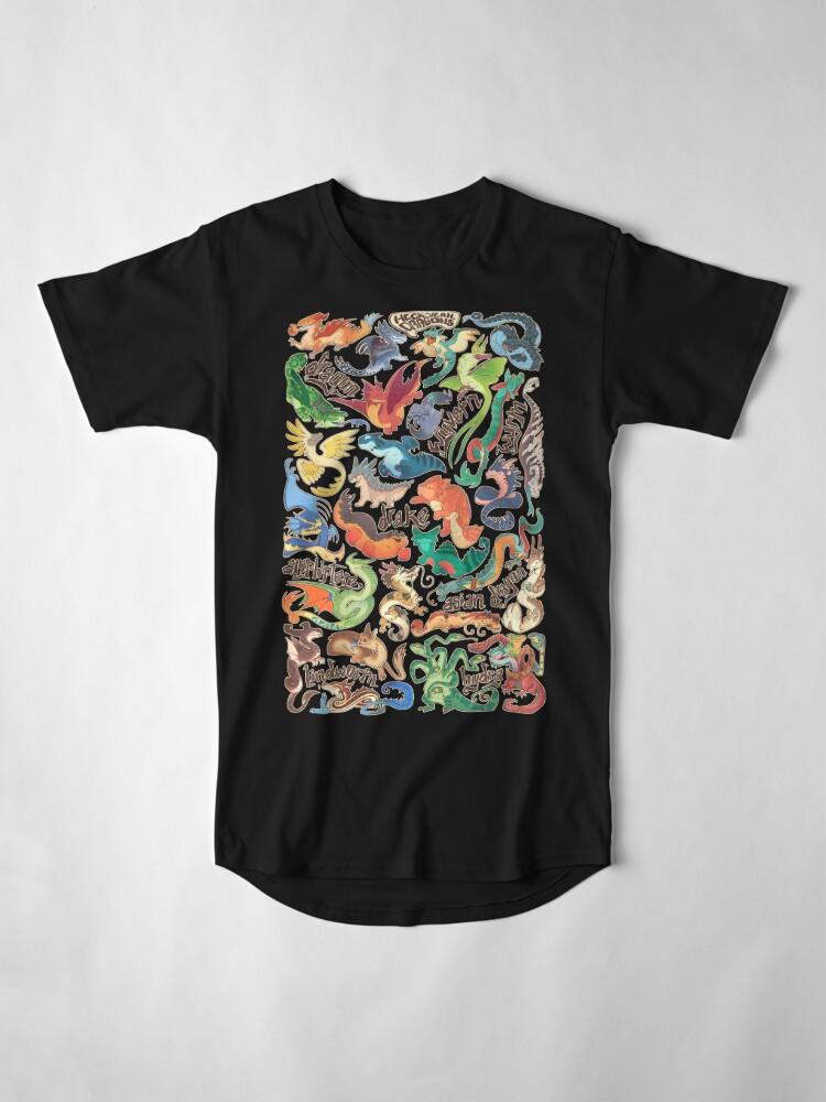 Alternate view of Mini dragon compendium  Long T-Shirt