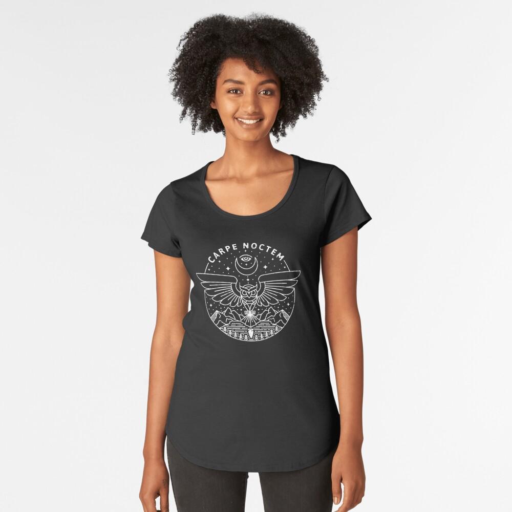 Camiseta premium para mujerCarpe Noctem / Blanco Delante