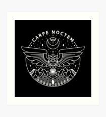 Carpe Noctem / White Art Print