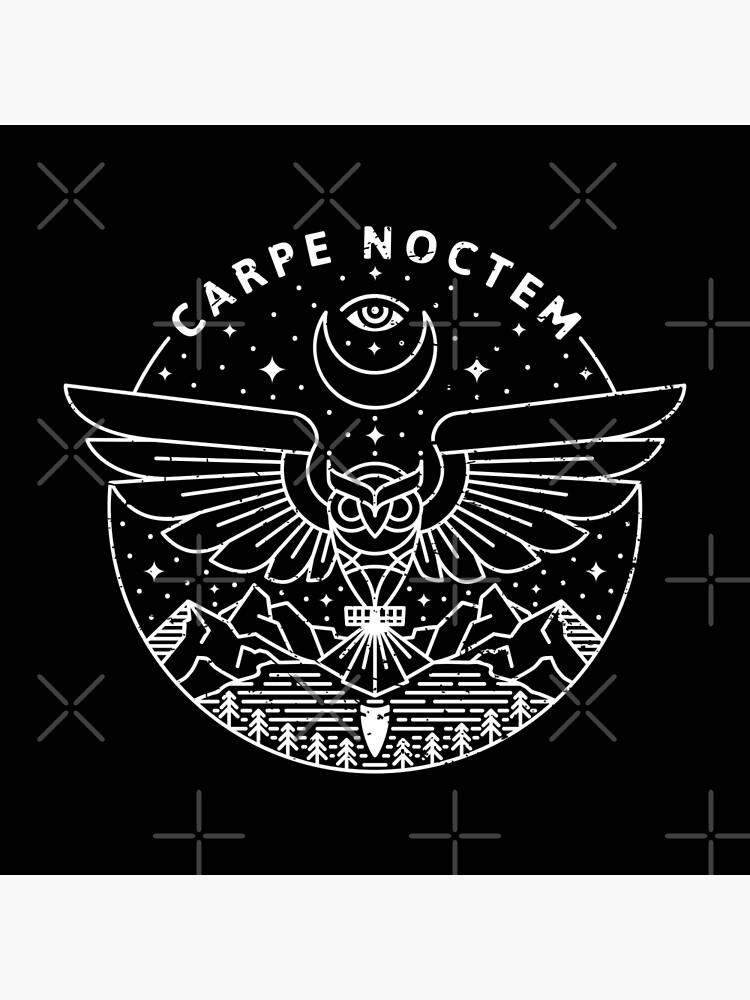 Carpe Noctem / Weiß von rfad
