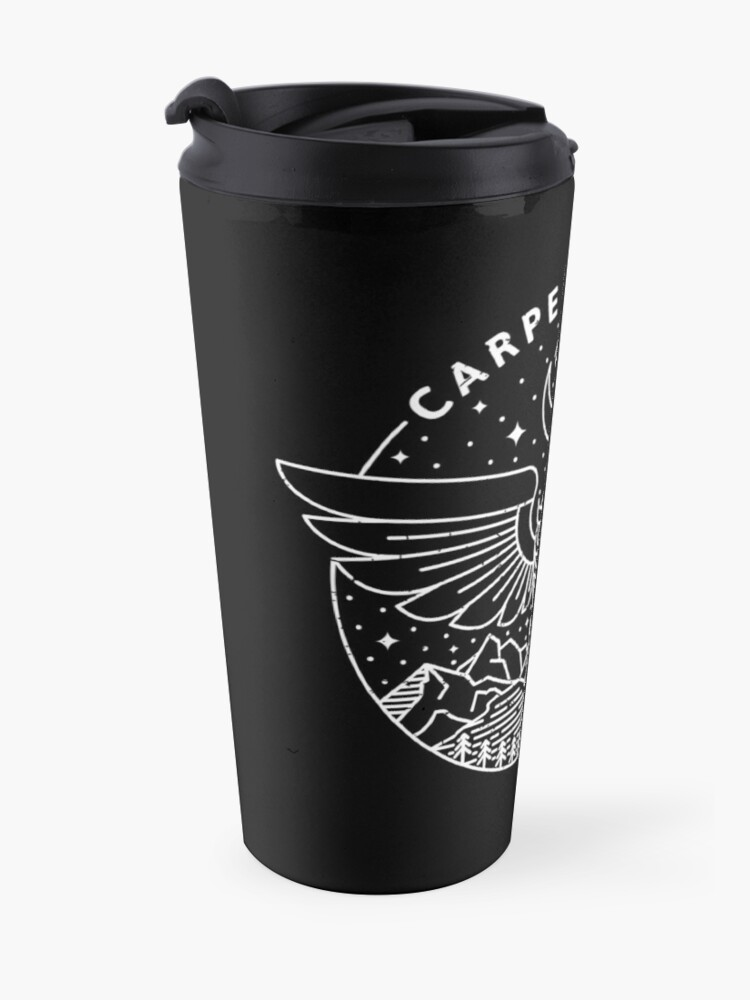 Alternate view of Carpe Noctem / White Travel Mug