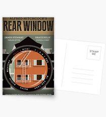 Postales Cartel de película alternativo de ventana trasera