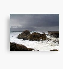 storm whipping up foam. Canvas Print