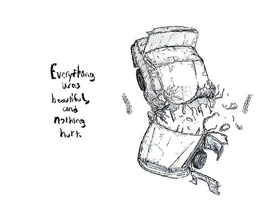 Car Crash Illustration Kurt Vonnegut Slaughterhouse Five Quote