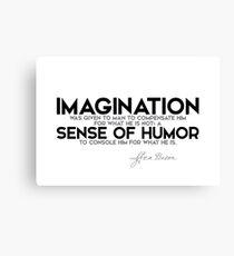 imagination, sense of humor - francis bacon Canvas Print