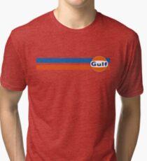 Gulf horizontal stripes Tri-blend T-Shirt