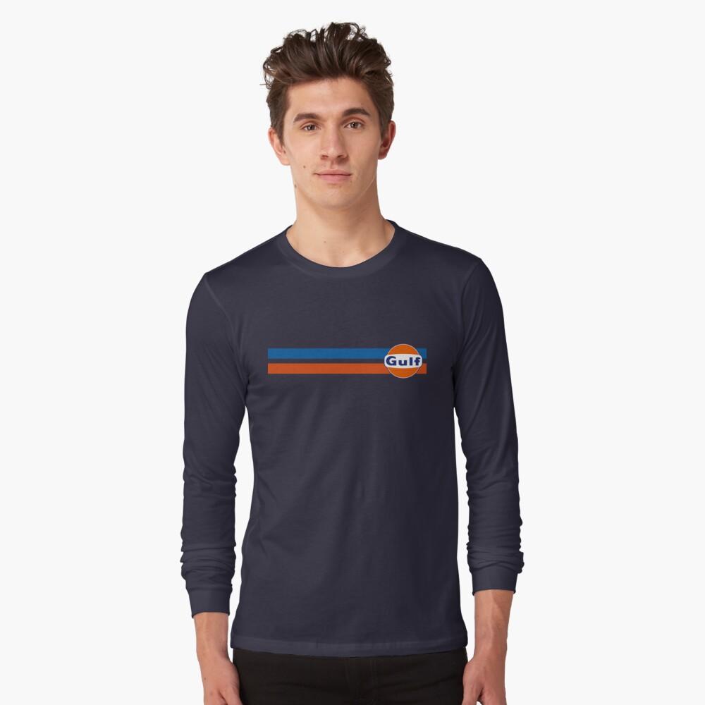 Horizontale Streifen Golf Langarmshirt