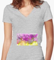 Top mega Hit ! Spring sexi leggins ! Wows !!! Women's Fitted V-Neck T-Shirt