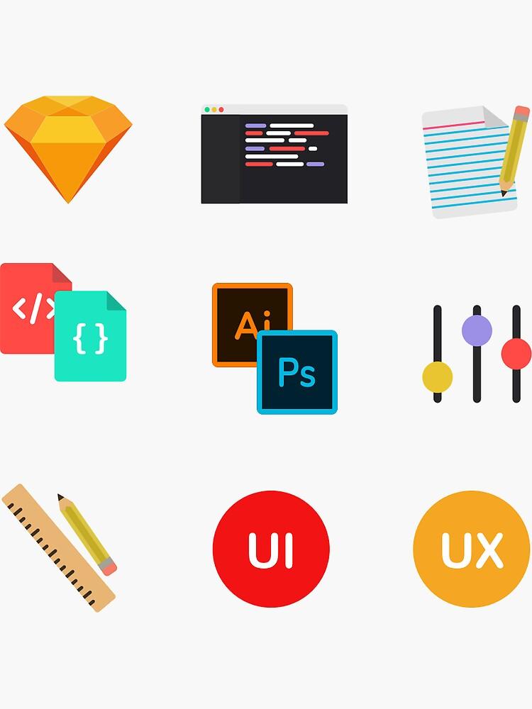 Paquete de pegatinas UI / UX de sirajcho