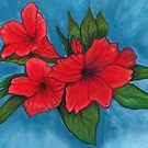 Red Hibiscus by sweetscent62