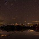 Catbells at Night, Keswick, Cumbria by JMChown