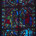 Bottom of tree of Jesse, Stained Glass C13-C16 Chapel of Sacrament, Beauvais Cathedral France 19840827 0031 by Fred Mitchell