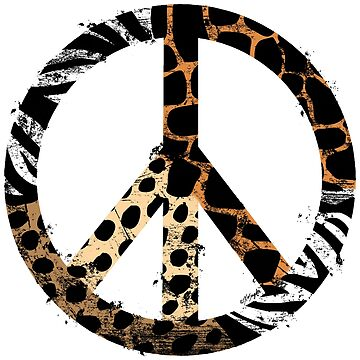 African Animal Pattern Peace Symbol by ArtVixen