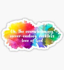 Reckless Love Sticker