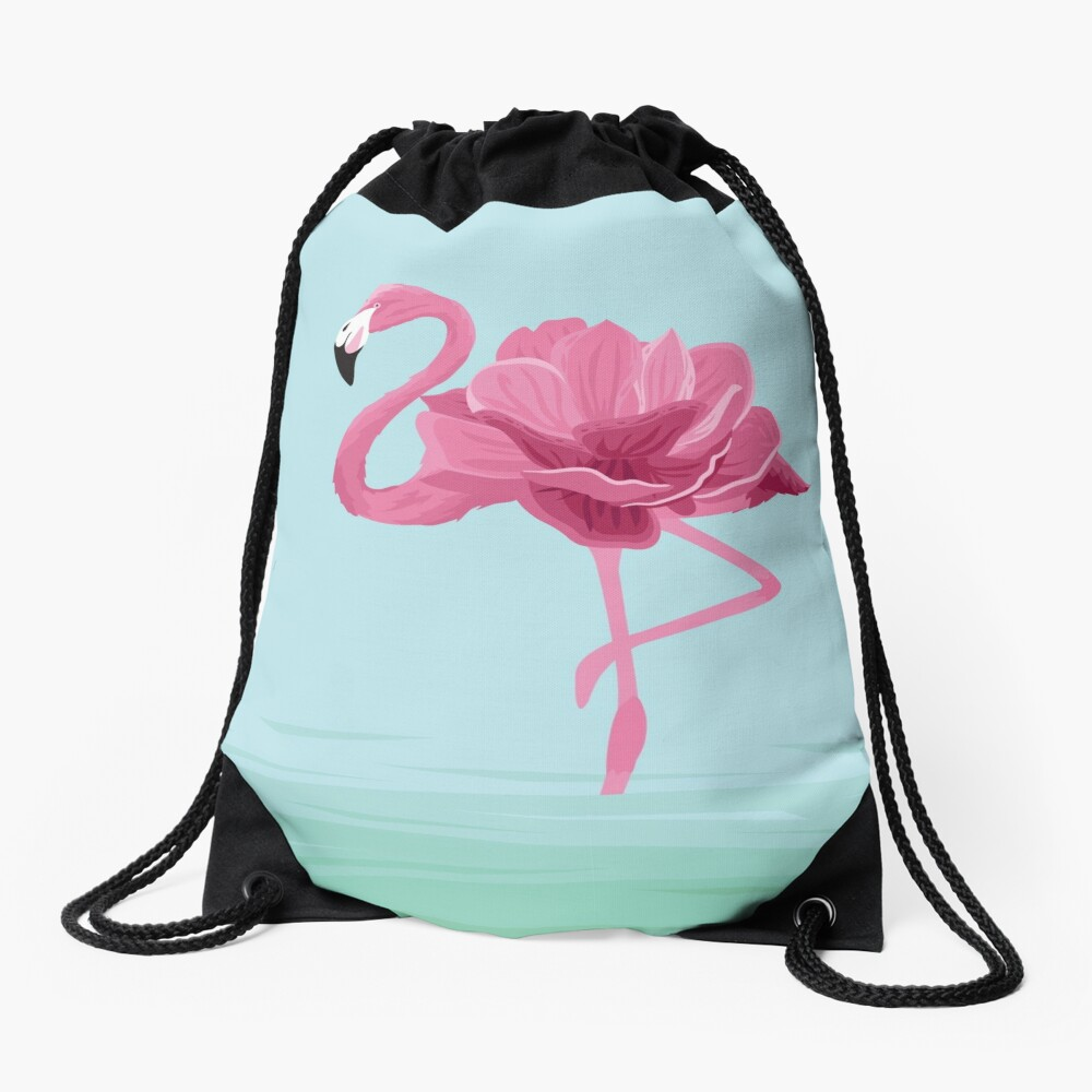 Flowermingo Drawstring Bag