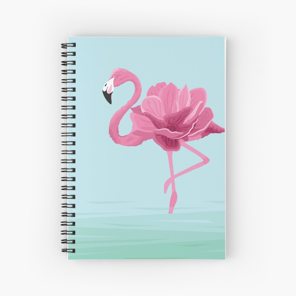 Flowermingo Spiral Notebook