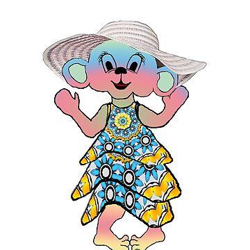 Pastel Hepburn Boomer Mouse by AuntyReni