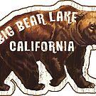 Big Bear Lake California Vintage Style Skiing Boating Hiking Camping by MyHandmadeSigns