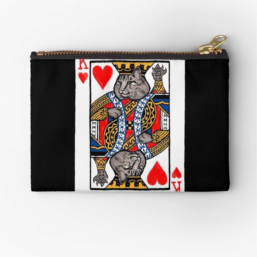 Moriarty, King of Hearts Zipper Pouch