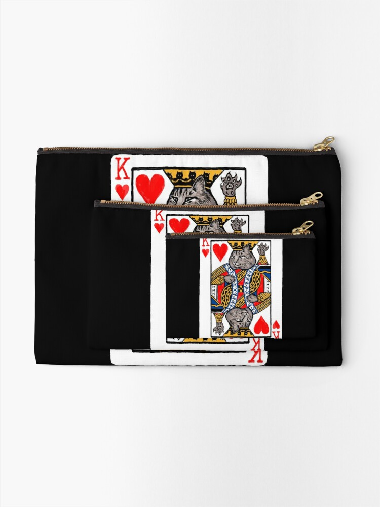 Alternate view of Moriarty, King of Hearts Zipper Pouch