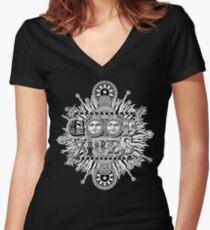 GOOD VIBES >> T-SHIRT , APPAREL, STICKER ,CLOCK, ETC Women's Fitted V-Neck T-Shirt