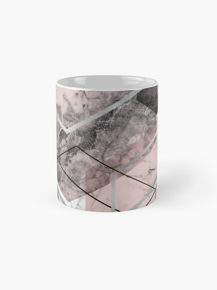Alternate view of Blush and Grey Geometric Mug