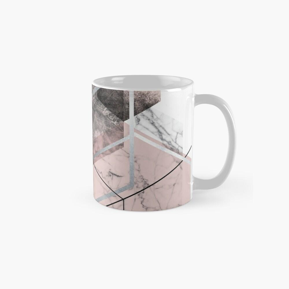 Blush and Grey Geometric Mug