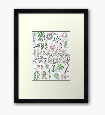 Professor Sprouts Herbology Class Framed Print