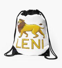 Leni Lion Drawstring Bags Drawstring Bag