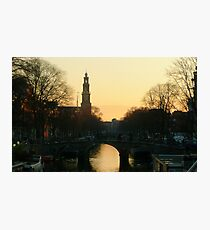 A February evening in Amsterdam Photographic Print