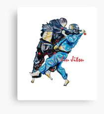 Jitsu-Blue - Bjj /Jiu-Jitsu Painting - Design By Kim Dean Canvas Print
