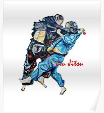 Jitsu-Blue - Bjj /Jiu-Jitsu Painting - Design By Kim Dean Poster