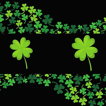 Four Leaf Clover Lucky Print Design by Erinelizacotter